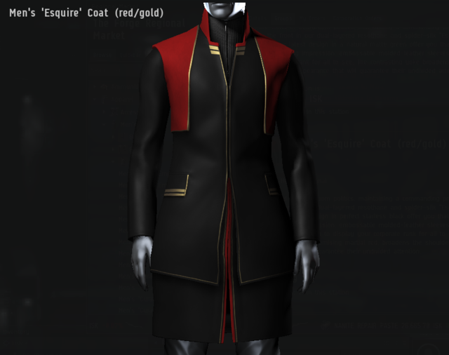 Men's 'Esquire' Coat (red・gold).png