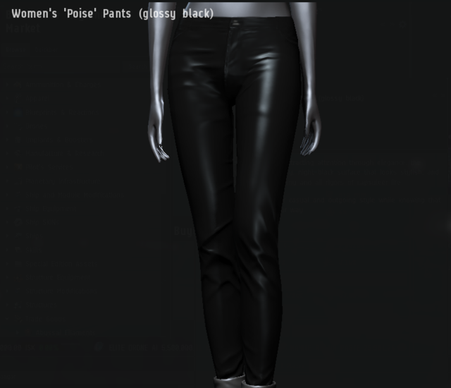 Women's 'Poise' Pants (glossy black).png