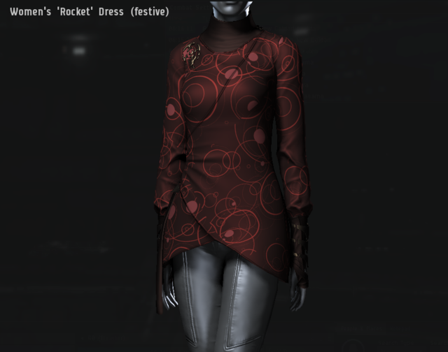 Women's 'Rocket' Dress (festive).png